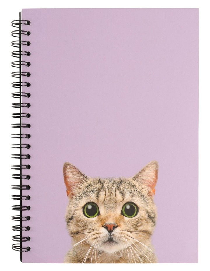 A5 Cat Lined Notebook image 1