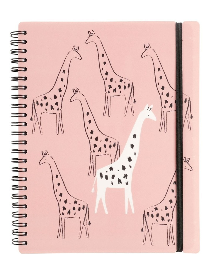 A5 Animals Pink Lined Notebook image 1