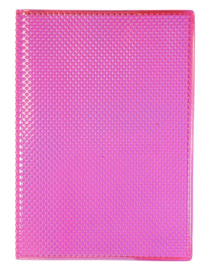 A5 Textured Pink Lined Notebook image 1