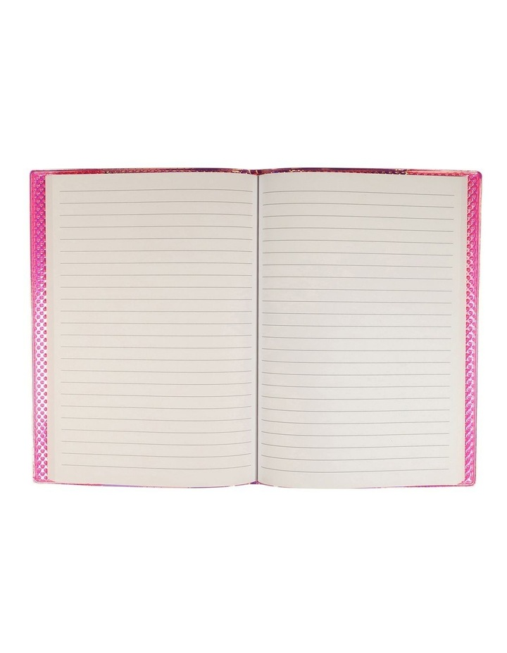 A5 Textured Pink Lined Notebook image 2