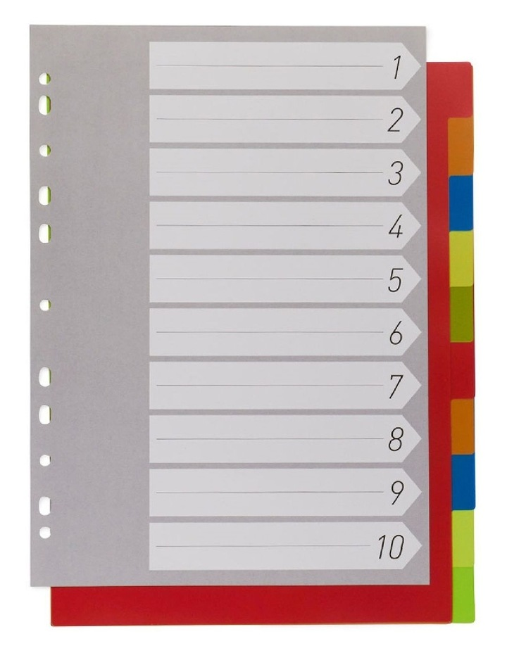Coloured A4 Subject Dividers - Set Of 10 image 1