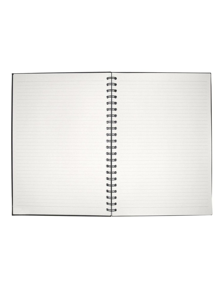 A4 Black Lined Notebook image 1