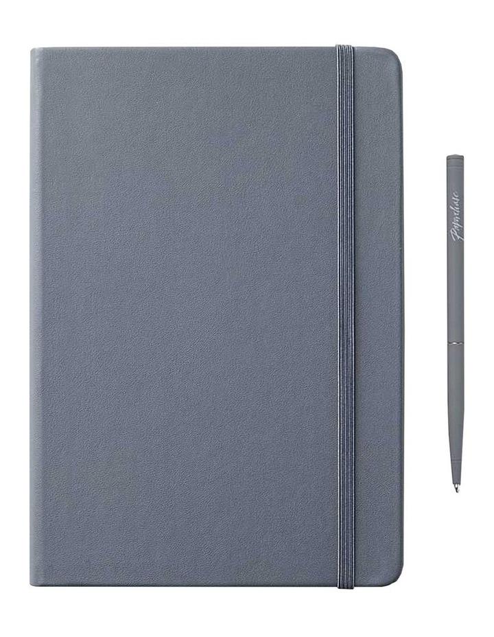 Hard Notebook M Agnezio Grey Plain image 1