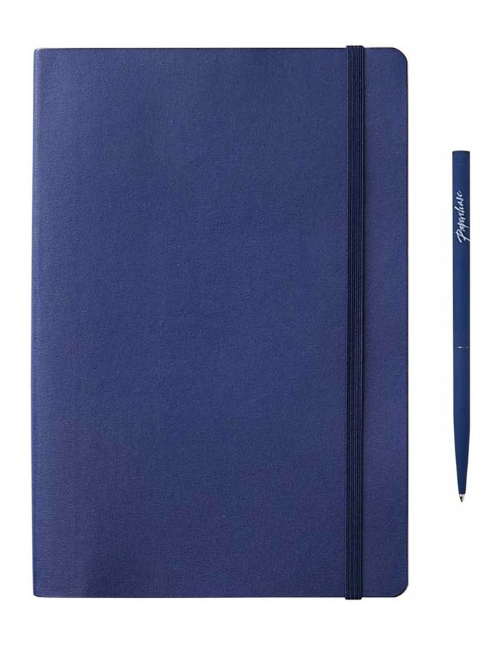 Ruled Soft Notebook Navy Agenzio image 1