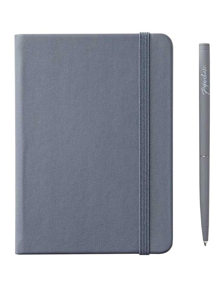 Hard Notebook Ruled S Agenzio Grey image 1