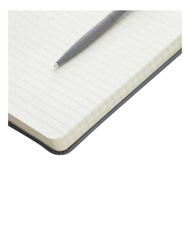 Hard Notebook Ruled S Agenzio Grey image 2