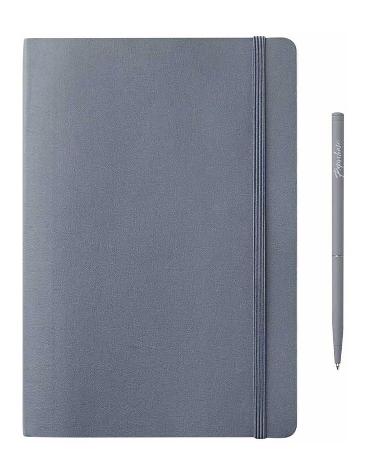Soft Notebook Ruled M Agenzio Grey image 1