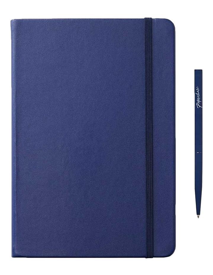 Hard Notebook Plain M Agenzio Navy image 1