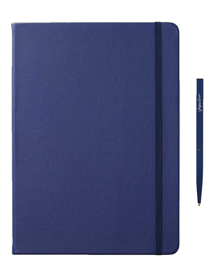 Hard Notebook L Ruled Agenzio Navy image 1
