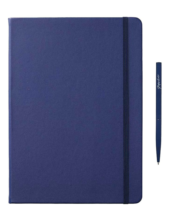 Hard Notebook L Plain Agenzio Navy image 1