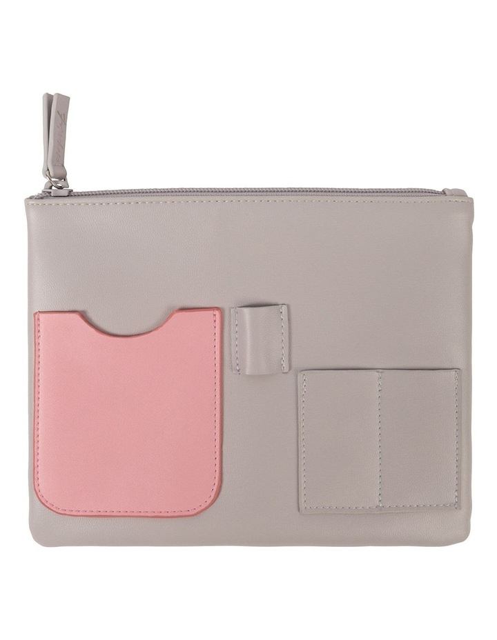 Grey Pink Pocket Pouch Case image 1