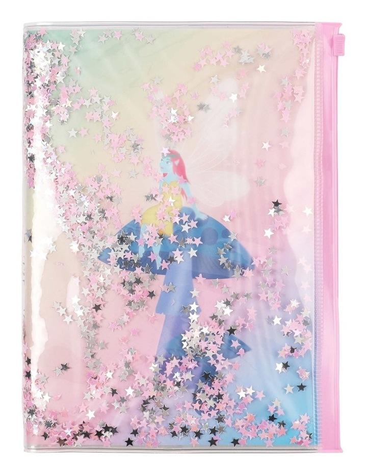 Glitter Filled Zip Lock Notebook image 1
