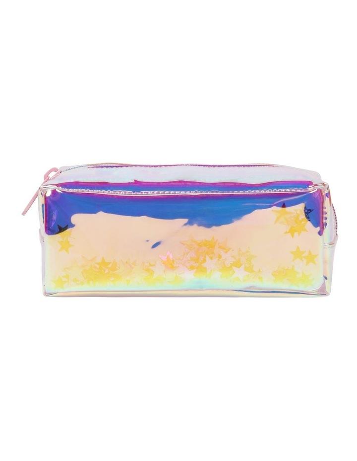 Clear Glitter Pencil Case image 1