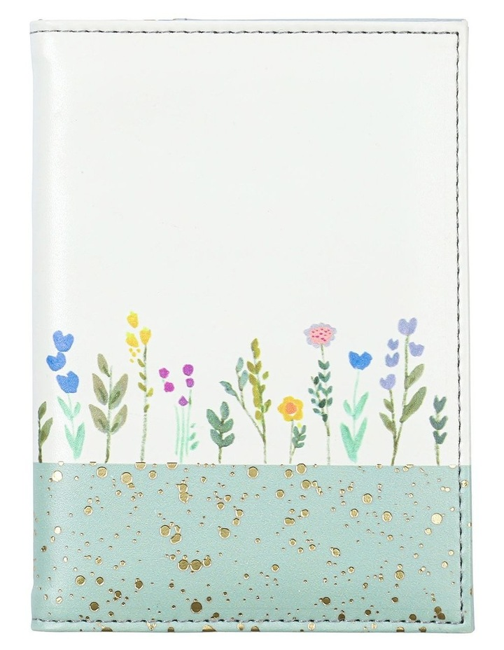Gold Speckled Floral Passport Holder image 1