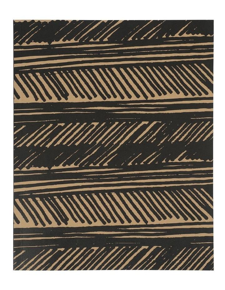 8x10 Kraft Black Lines Notebook image 1