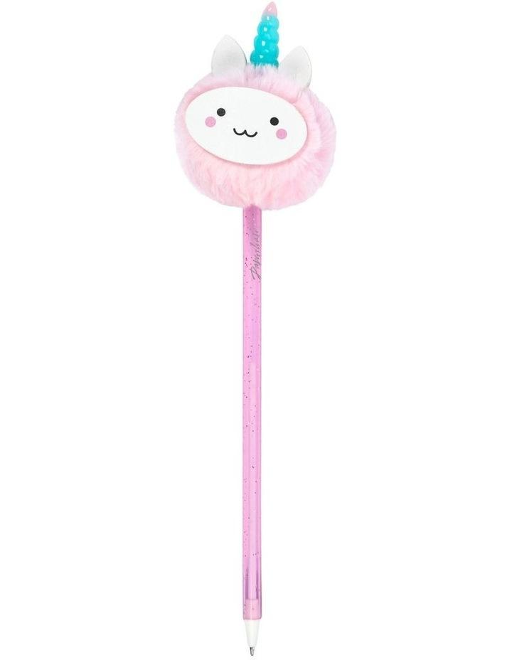 Pink Unicorn Pom Pom Pen image 1