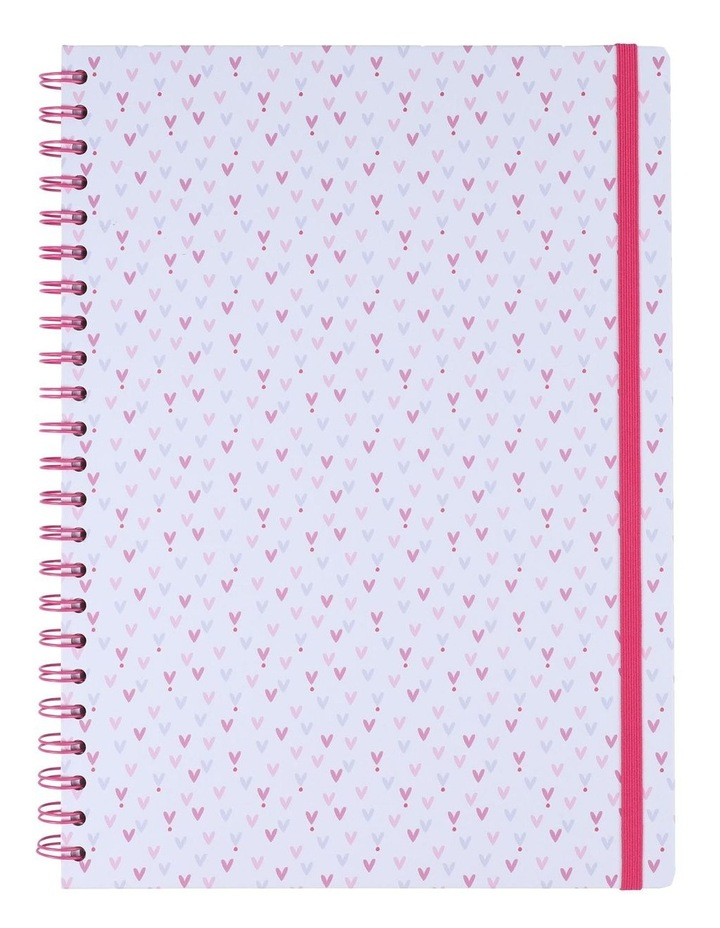 Notebook A4 Wiro Ditsy Hearts image 1