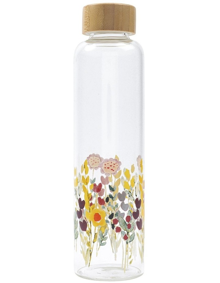 Floral Glass Water Bottle image 1