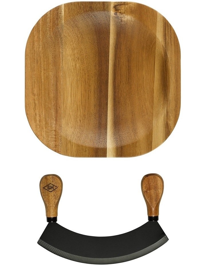 Herb Chopping Board with Knife image 3