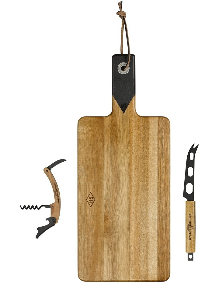 Cheese Board and knife set with wine opener image 6