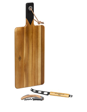 Gentlemen's Hardware - Cheese Board and knife set with wine opener