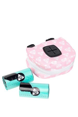 FUZZYARD - Pink Emoji Dispenser + 2 Rolls