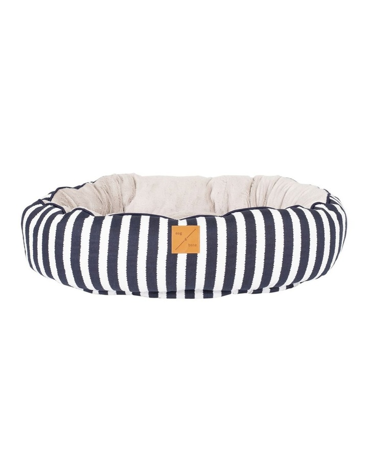 4 Seasons Reversible Circular Bed  Navy Hamptons Stripe Medium image 1