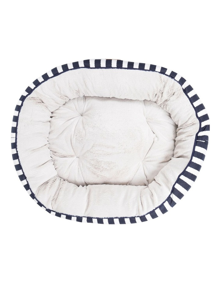 4 Seasons Reversible Circular Bed  Navy Hamptons Stripe Medium image 2
