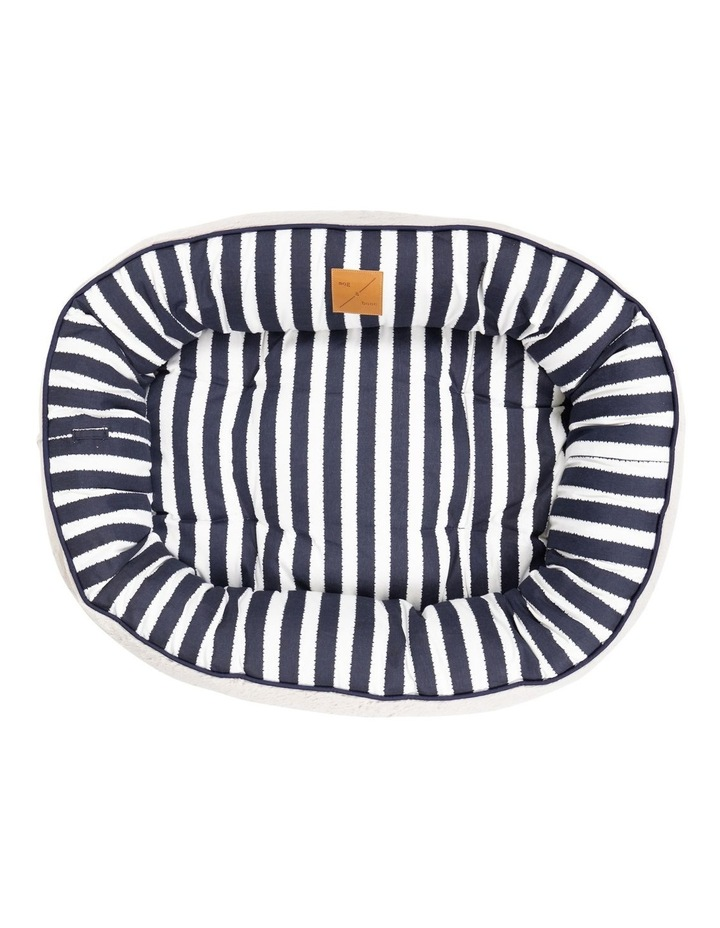4 Seasons Reversible Circular Bed  Navy Hamptons Stripe Medium image 3