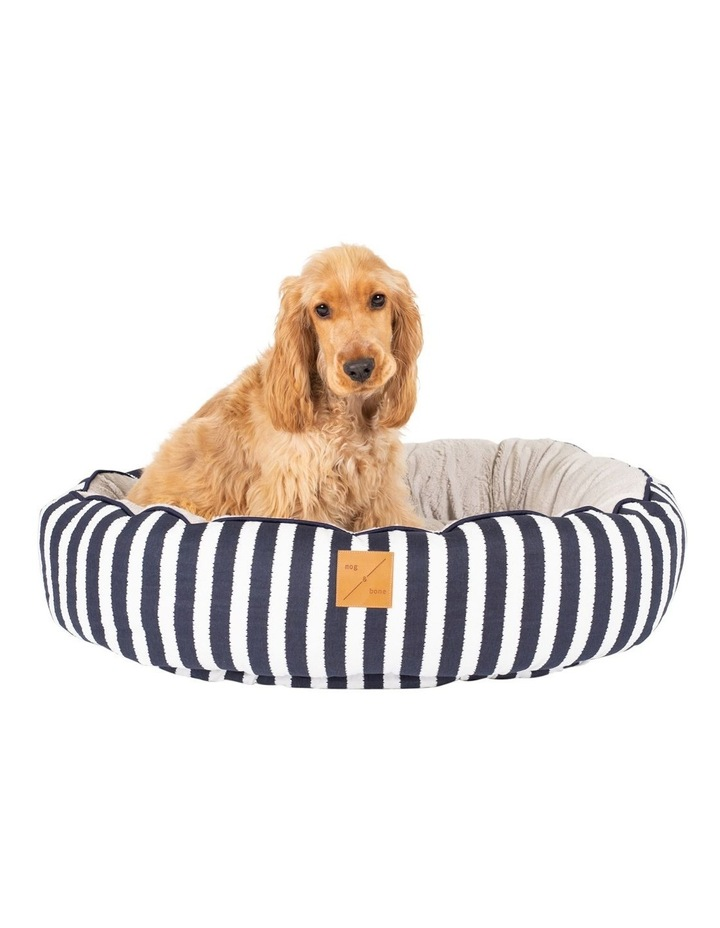 4 Seasons Reversible Circular Bed  Navy Hamptons Stripe Medium image 4
