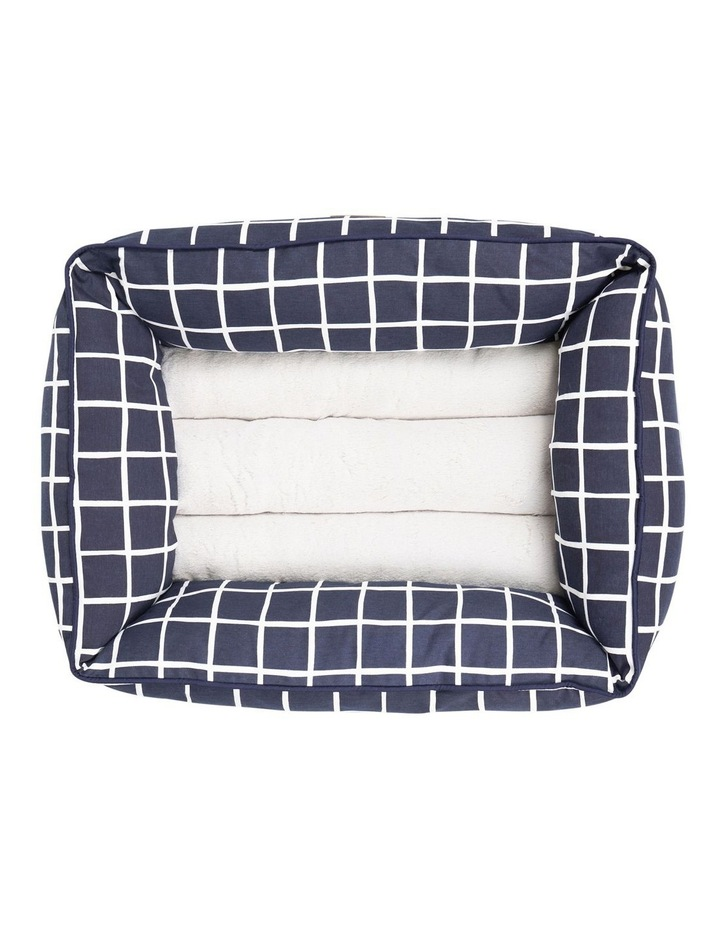 Bolster Bed Navy Check  Large image 2