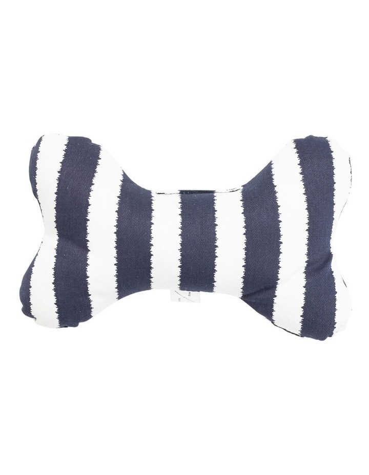 Printed Bone Soft Toy Navy Hamptons Stripe image 1
