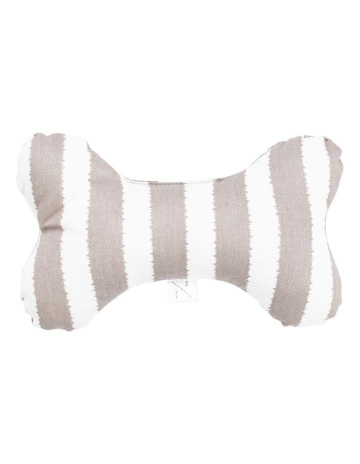 Printed Bone Soft Toy Latte Hamptons Stripe image 1