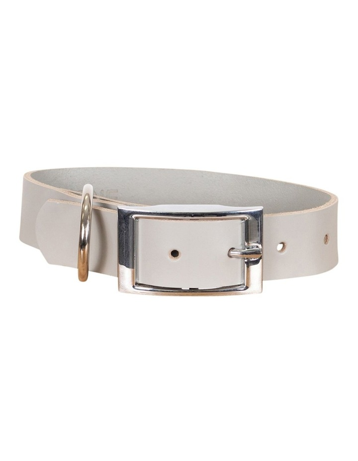 Genuine Leather Collar Grey Small image 1