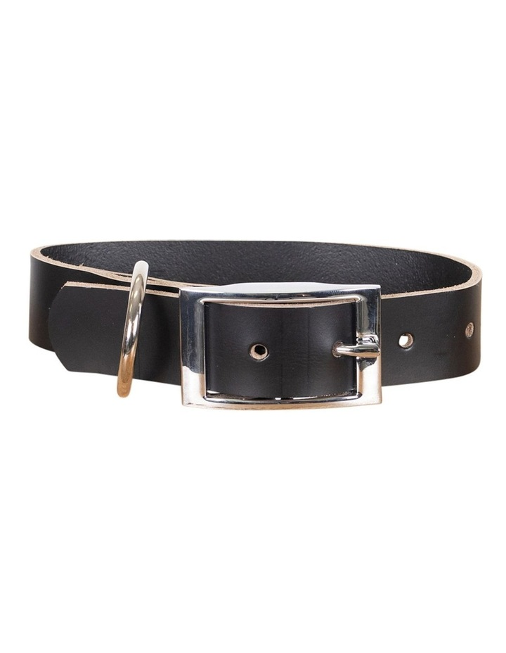 Genuine Leather Collar Black Small image 1
