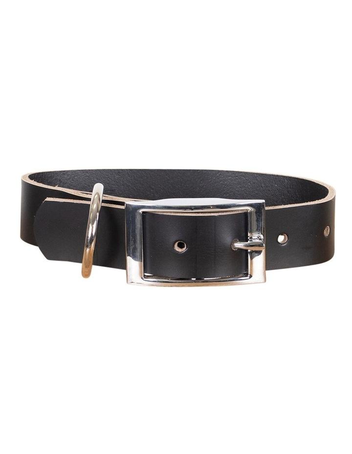 Genuine Leather Collar Black Large image 1