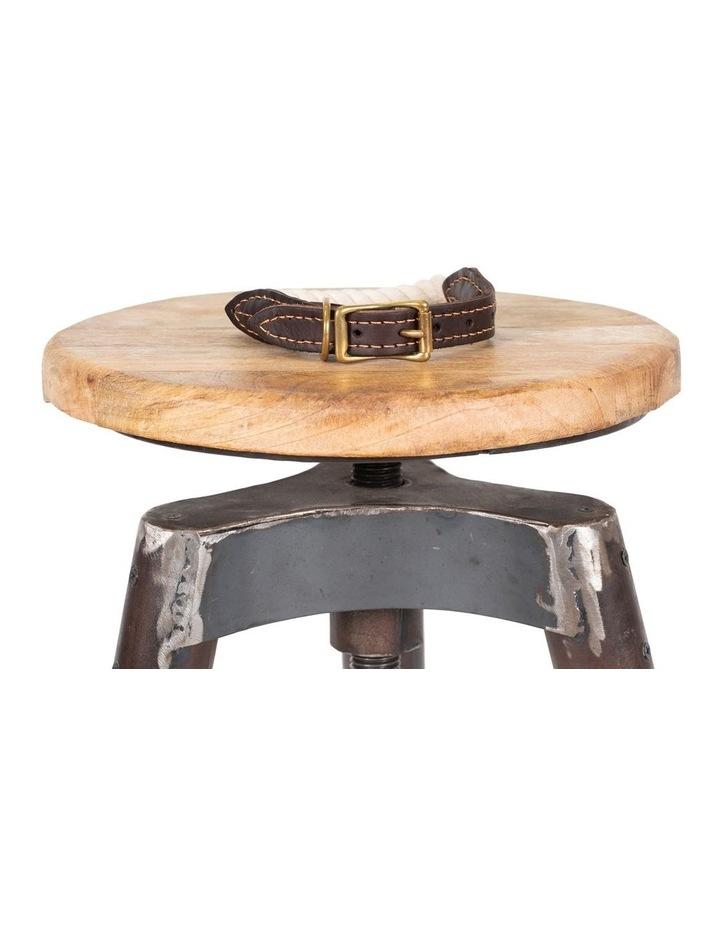 Genuine Leather & Brass Rope Collar Natural Medium image 4