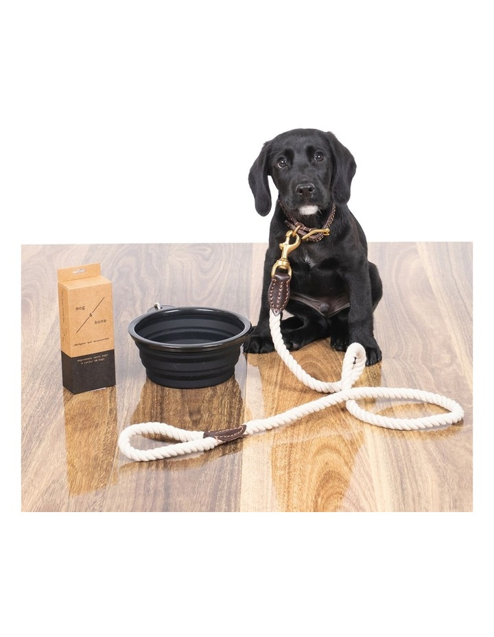 Genuine Leather & Brass Rope Lead Natural 1.2M image 3