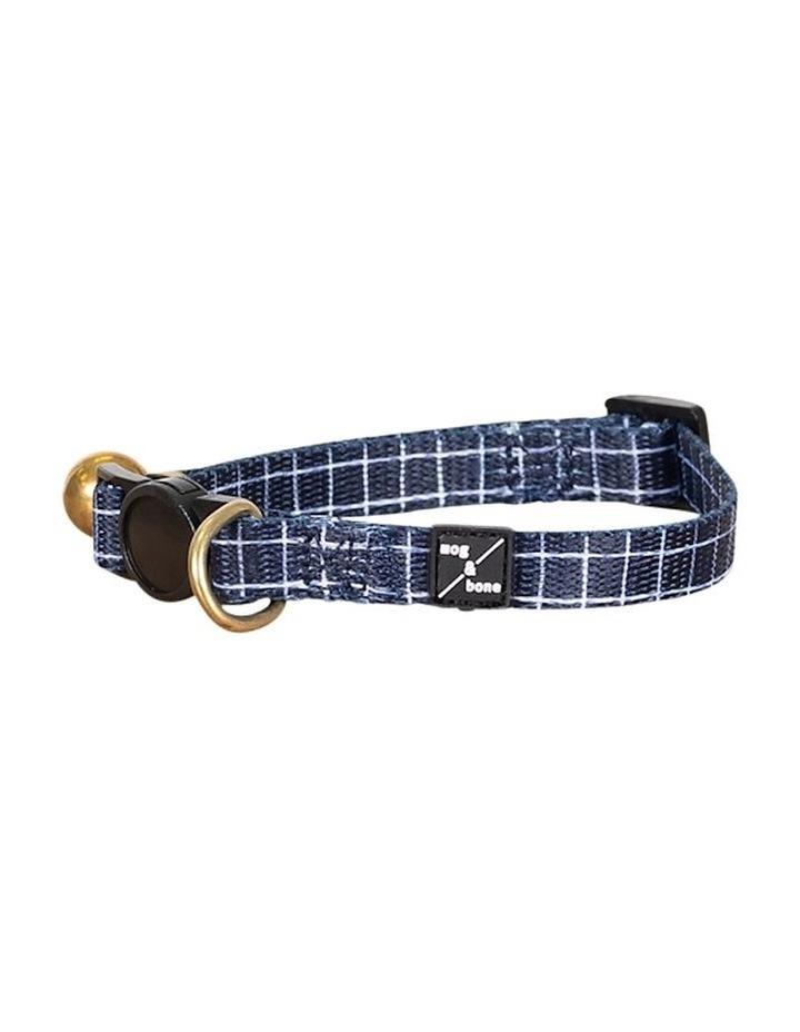 Cat Collar Navy Check image 2