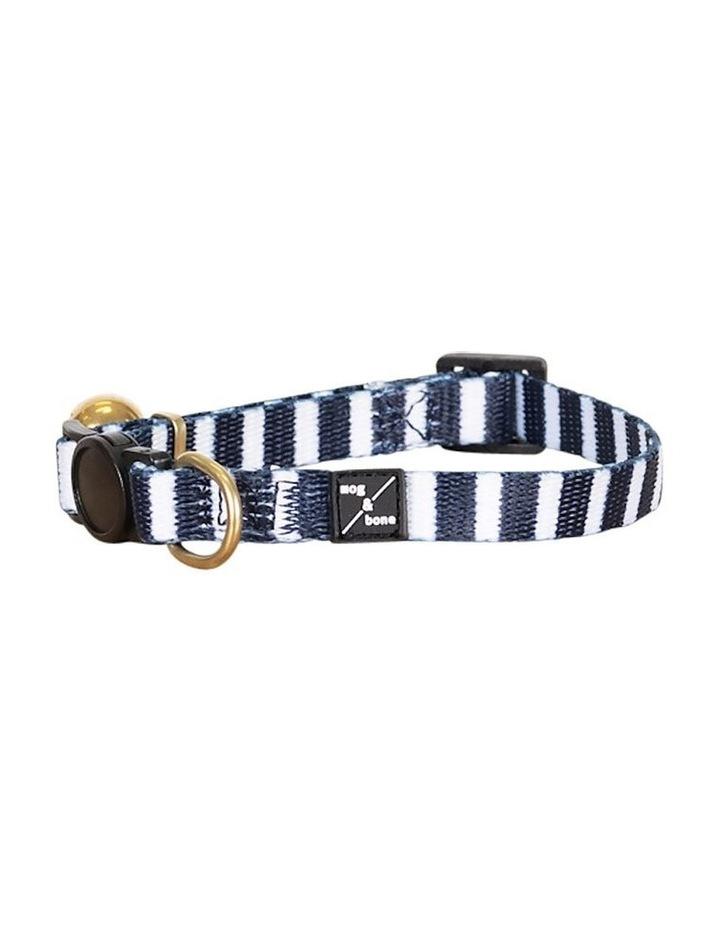 Cat Collar Navy Hamptons Stripe image 2