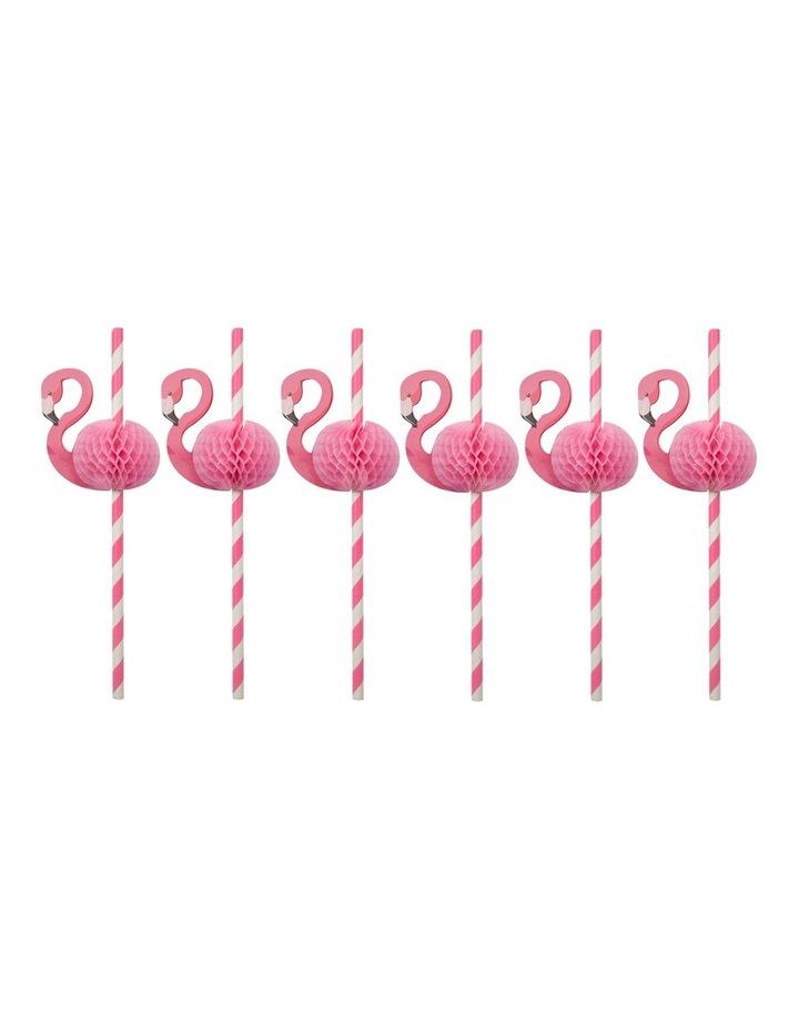 Honeycomb Straws - Flamingo S12 image 1