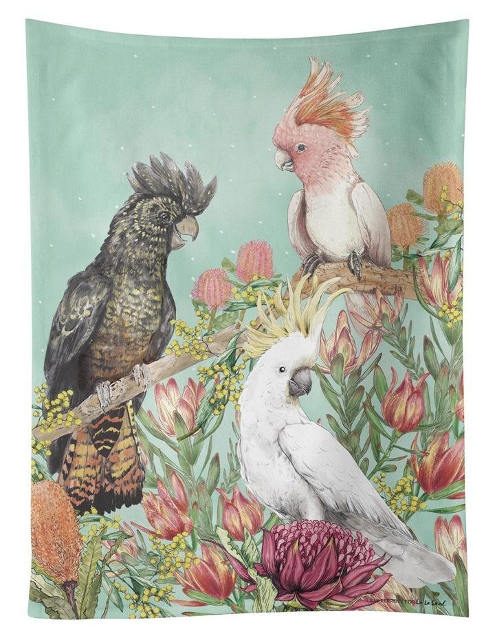 Cockatoos Of Aust Tea Towel image 1