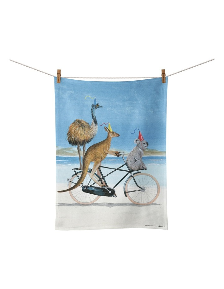 Aussie Beach Bike Tea Towel image 1