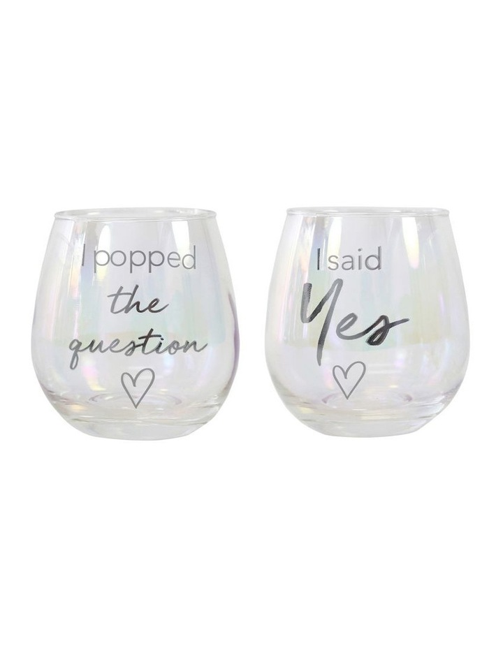Popped The Question Glass Set image 1