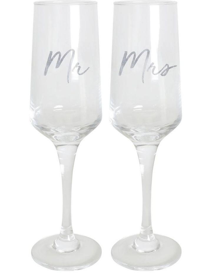 Mr & Mrs Champagne Flute Set image 1