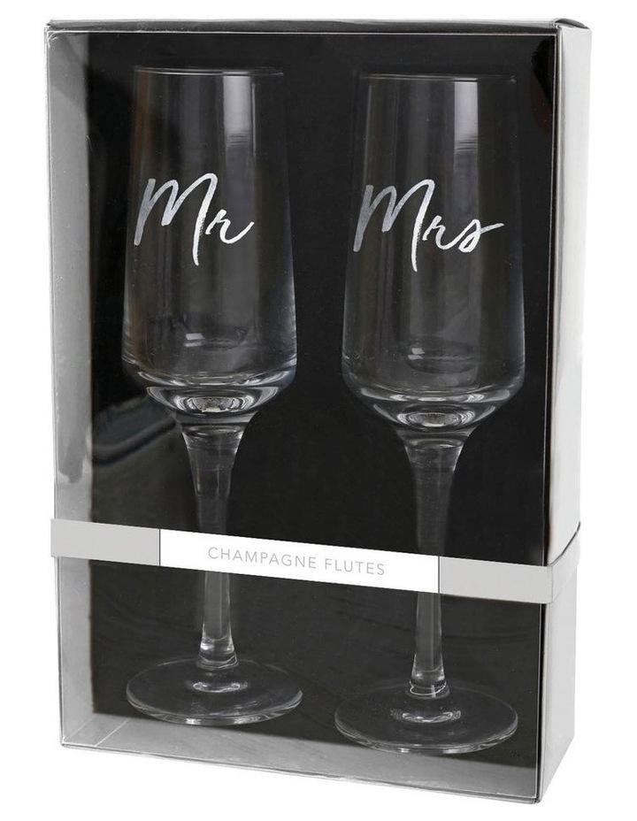 Mr & Mrs Champagne Flute Set image 2