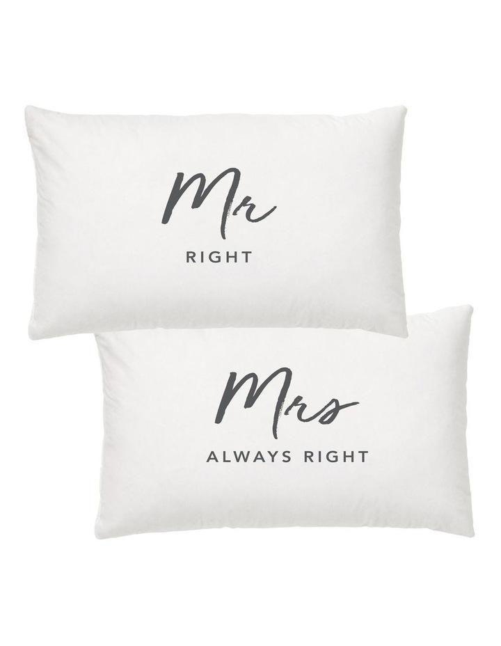 Mr & Mrs Right Pillow Case Set image 1