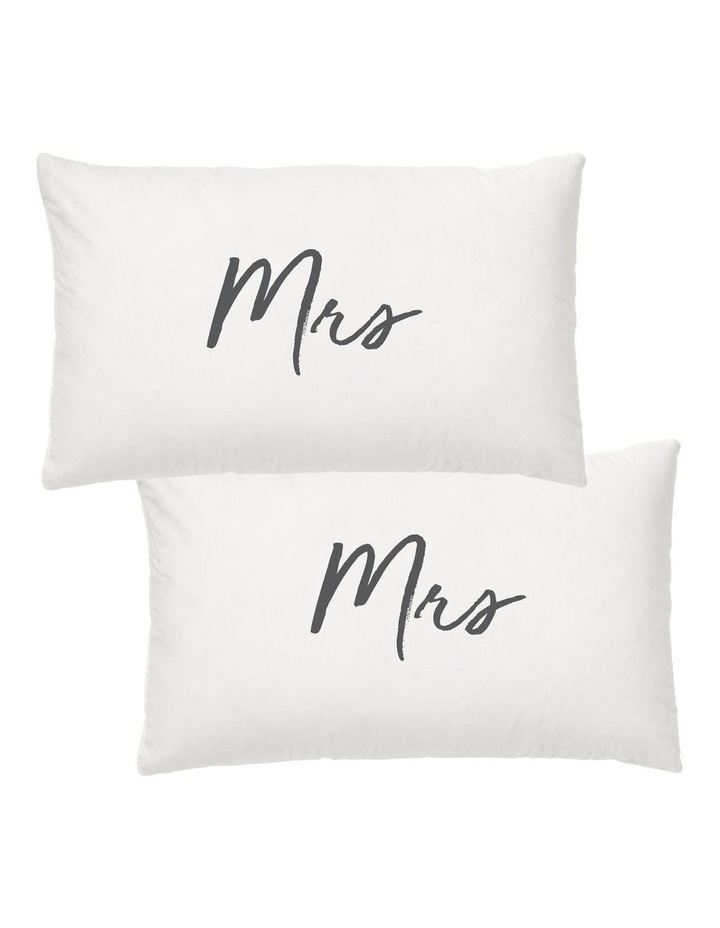 Wedding Mrs & Mrs Pillow Case Set image 1