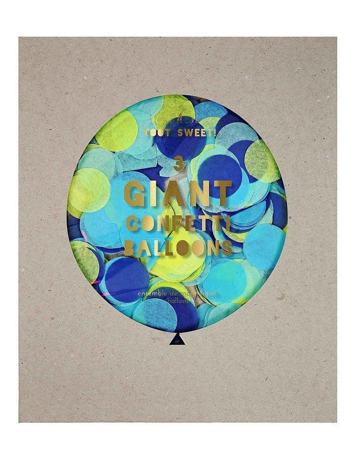 Giant Confetti Balloons Blue 3 Set image 1
