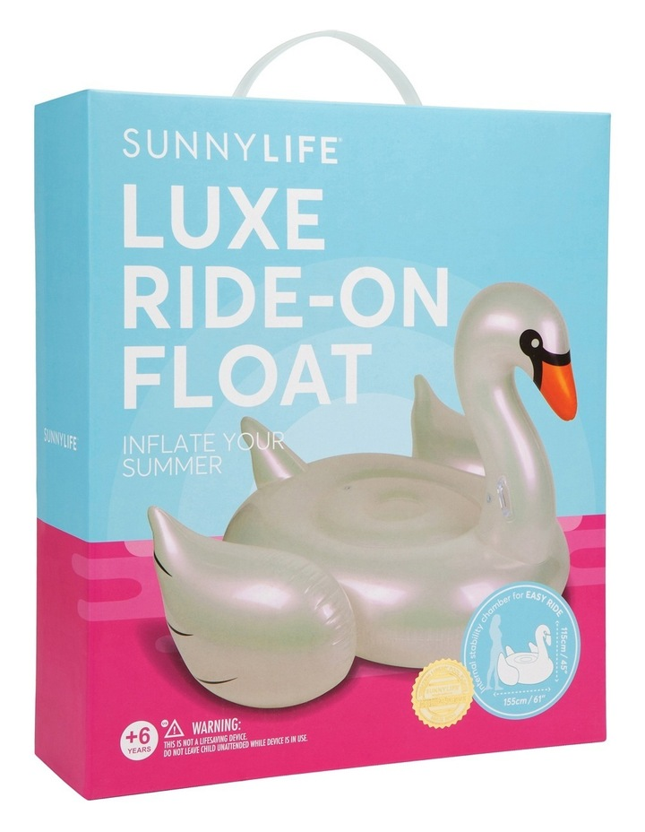 Ride-On Float Pearl Swan image 2
